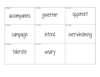 Wonders - Grade 4; Unit 4 Week 2 Vocabulary