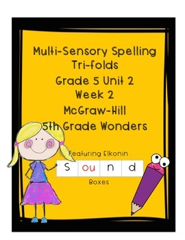 Wonders Grade 5 Unit 2 Week 2 Spelling Tri-fold - Multisensory