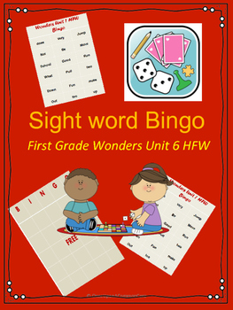 Wonders HFW Unit 1 Bingo6