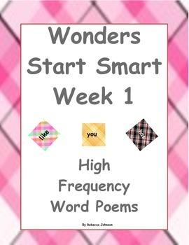 Wonders High Frequency Word Poems Start Smart Week 1