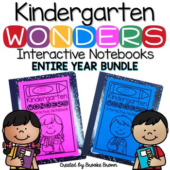 Kindergarten Wonders INTERACTIVE NOTEBOOK ENTIRE YEAR BUNDLE