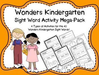 Wonders Kindergarten Sight Word Mega Pack