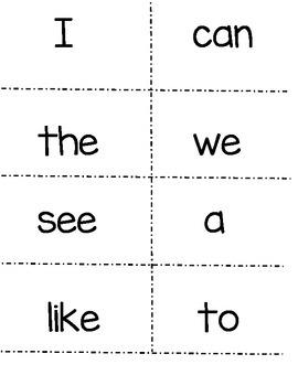 McGraw Hill Wonders Kindergarten Sight Words! (plus color