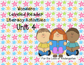 Wonders Leveled Reader Literacy Activities Unit 4