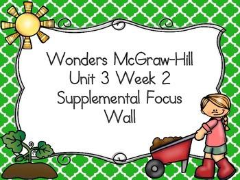 Wonders McGraw-Hill 1st Grade Unit 3 Week 2 Supplemental F
