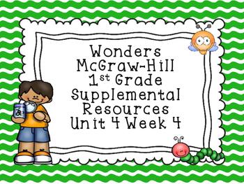 Wonders McGraw-Hill 1st Grade Unit 4 Week 4 Supplemental F
