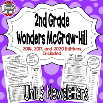 Wonders McGraw Hill 2nd Grade Newsletter/Study Guide - Uni