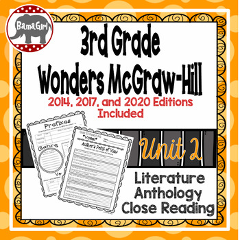 Wonders McGraw Hill 3rd Grade Close Reading (Literature An