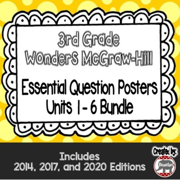 Wonders McGraw Hill 3rd Grade Essential Question Posters -
