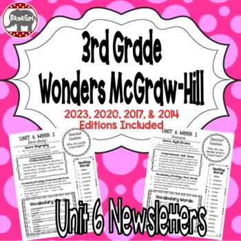 Wonders McGraw Hill 3rd Grade Newsletter/Study Guide - Uni
