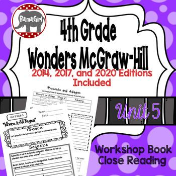 Wonders McGraw Hill 4th Grade Close Reading (Workshop Book