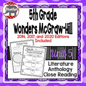 Wonders McGraw Hill 5th Grade Close Reading (Literature An