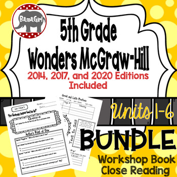 Wonders McGraw Hill 5th Grade Close Reading (Workshop Book