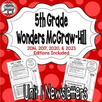 Wonders McGraw Hill 5th Grade Newsletter/Study Guide - Uni