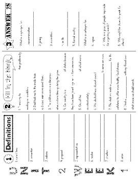 Wonders McGraw Hill 5th Grade Vocabulary Trifold - Unit 2