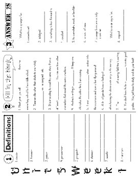 Wonders McGraw Hill 5th Grade Vocabulary Trifold - Unit 5