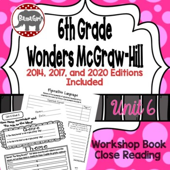 Wonders McGraw Hill 6th Grade Close Reading (Workshop Book