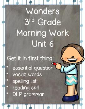 Wonders Morning Work for Third Grade: Unit 6