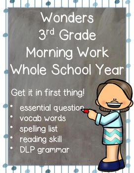 Wonders Morning Work for Third Grade: Whole School Year