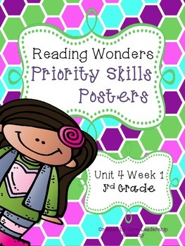 Wonders Priority Skills Anchor Charts Unit 4 Week 1~ 3rd Grade