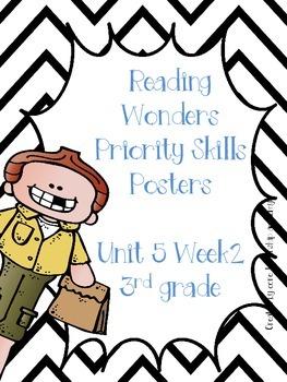 Wonders Priority Skills Anchor Charts Unit 5 Week 2~ 3rd Grade