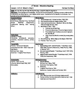 Wonders Reading 1st Grade Unit 2 Week 5 Lesson Plan
