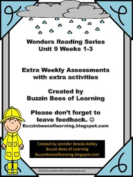 Wonders Reading Extra Assessments: Unit 9-Week 1-3 for Kin