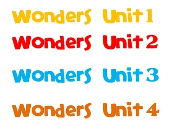 Wonders Reading Binder Spine Labels