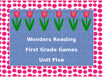 McGraw-Hill Wonders Reading First Grade Unit Five Board Games