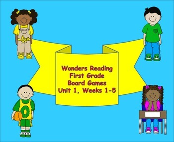 McGraw-Hill Wonders Reading First Grade Unit One Board Games