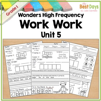 Wonders Reading Grade 1:  Word Work Unit 5