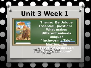 Wonders Reading Grade 3 Unit 3 Week 1