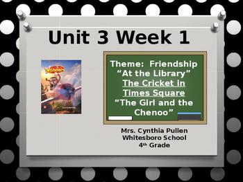 Wonders Reading Grade 4 Unit 3 Week 1