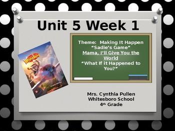 Wonders Reading Grade 4 Unit 5 Week 1 (4 Day Plan)