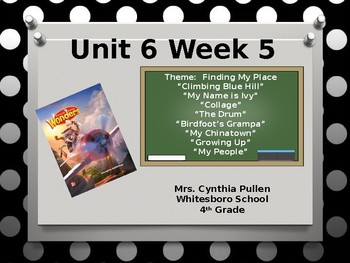Wonders Reading Grade 4 unit 6 Week 5