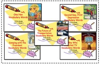 Wonders Reading Grade 5 Vocabulary PowerPoints Unit One
