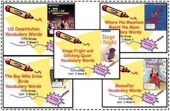 Wonders Reading Grade 5 Vocabulary PowerPoints Unit 2