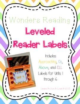 Wonders Reading Leveled Reader Labels