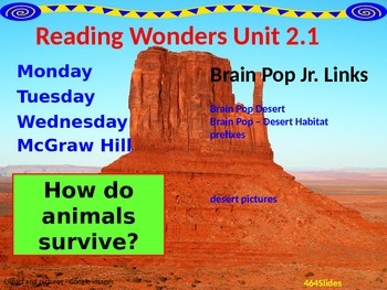 Wonders Reading Second Grade Power Point Unit 2.1
