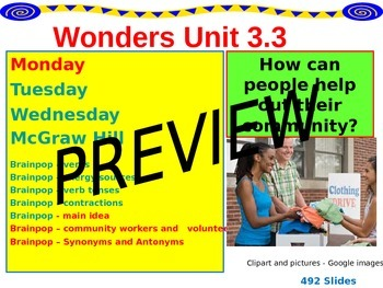 Wonders Reading Second Grade Power Point Unit 3.3