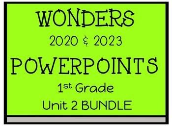 Wonders Reading Series, 1st Grade, Unit 2, PowerPoints