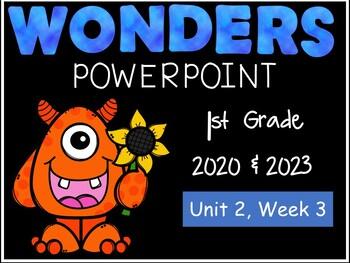 Wonders Reading Series, 1st Grade, Unit 2, Week 3  PowerPoint