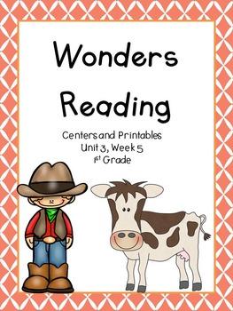 Wonders Reading Series, Unit 3, Week 5, 1st grade, Centers