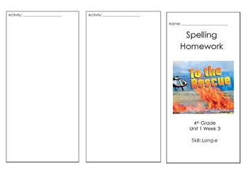 Wonders Reading Spelling Brochure Unit 1 Week 3 On Level