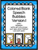ELA Think Aloud Bubble Kids in Color and B&W  (blank & wit