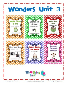 1st Grade Wonders - Unit 3 - Binder Cover