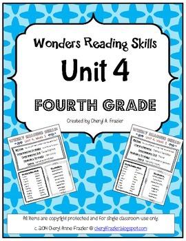 Wonders Reading Unit 4 Skill, Vocab, and Spelling List (4t