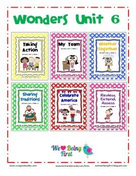 Wonders Reading Unit 6 Binder Cover