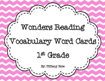 Wonders Reading Vocabulary Cards 1st Grade