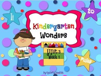 Wonders Reading for Kindergarten: Unit 3 Week 1 Extension